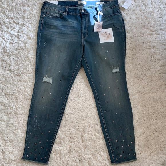 Jessica Simpson Denim - Jessica Simpson Curvy High Rise Distressed Jeans